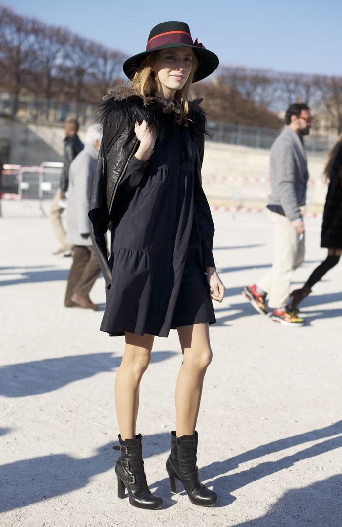 Elena Perminova Feather Collar Street Fashion Street
