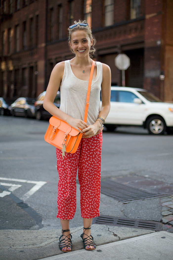 Laurel Pantin Neon Orange Cambridge Satchel Street