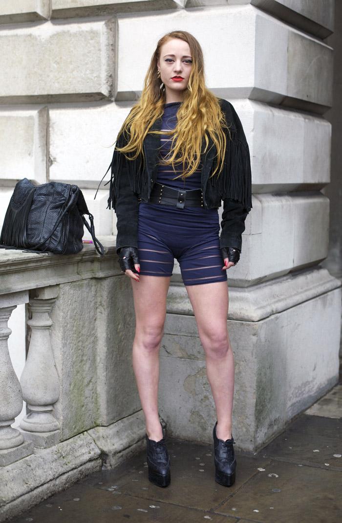 London Slit Bodysuit Street Fashion Street Peeper