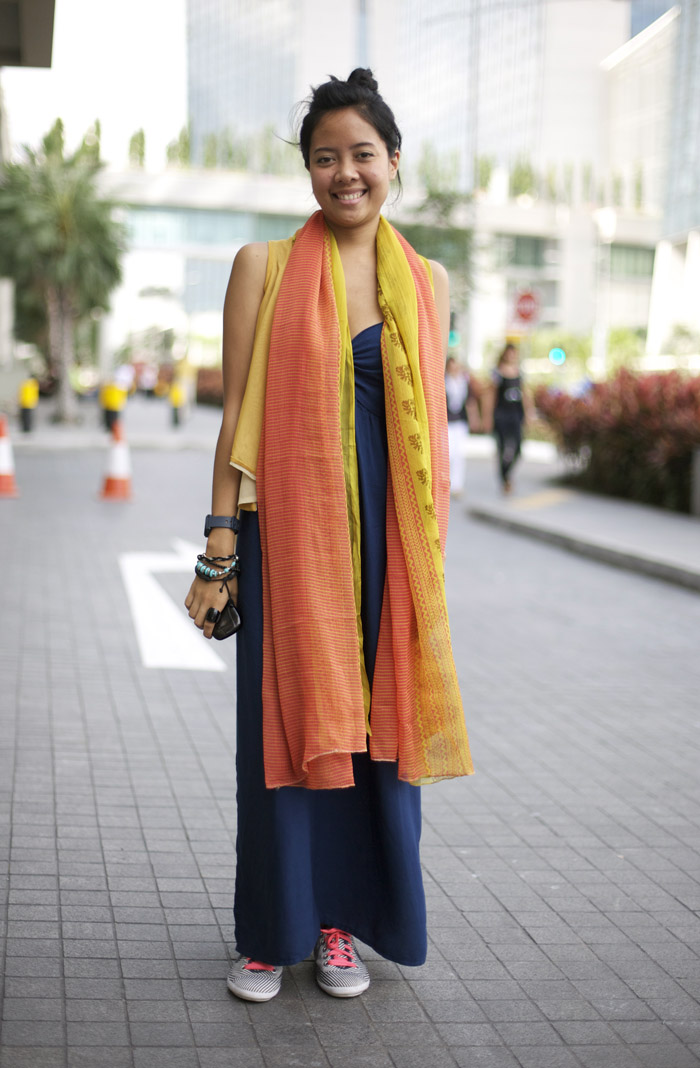 Blueprint Singapore Indian Scarves Street Fashion Street Peeper Global Street Fashion And